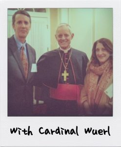 Mr. and Mrs. Miller with Cardinal Wuerl