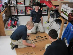 Project Based Learning building out of Cardboard
