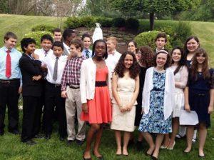May 8th grade Student Crowning Photo
