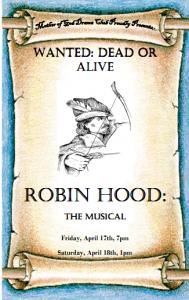 Robin Hood the Musical Leaflet
