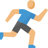 stick figure running icon